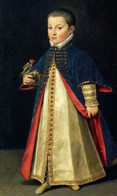 Ernst of Austria (1553-1595), son of Maximilian II of Austria and his wife Maria of Austria. He was never married and had no children. #buttonloops