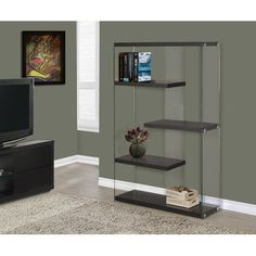 """Found it at Wayfair - Monarch / Tempered Glass 60"""" Accent Shelves"""