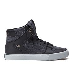 SUPRA VAIDER | BLACK/SPECKLE - GREY | Official SUPRA Footwear Site