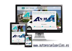 Nueva Web para Autoescuela Avilés en #Atarfe y #CúllarVega. Ya puedes conocer mejor está gran autoescuela sus servicios, cursos y ofertas. Web profesional realizada por Granada Sites Granada, Electronics, Web Portfolio, Getting To Know, Projects, Grenada