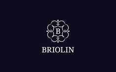 Briolin logo by Levogrin. Example of initial within ornate cartouche. Works well reversed-out.