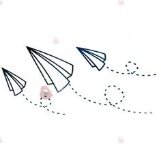 Chic Paper Plane Pattern Waterproof Tattoo Sticker For Women ($2.33) ❤ liked on Polyvore featuring accessories