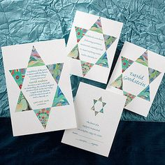 Star of David Devotion from the Mazel Tov album.   Contact Deborah for more information:  www.invitationsbydeborah.com