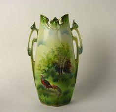 RS Prussia Porcelain Vase w Pheasant | eBay