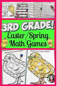 Bring some Easter/Spring fun to your classroom with this set of 12 math games! - Real Time - Diet, Exercise, Fitness, Finance You for Healthy articles ideas Easter Activities, Spring Activities, Math Activities, Fun Math, Math Games, Dice Games, Teacher Resources, Classroom Resources, Math Classroom