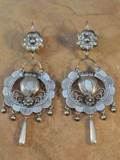 Mexican Mexico Sterling Silver Frida Earrings $165.00