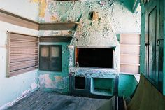 Once a part of the kitchen, today a great fireplace in our suite...