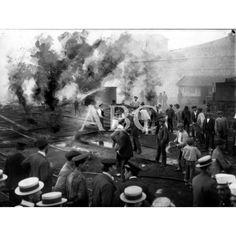 1906 Incendio depósito máquinas Estación del Norte