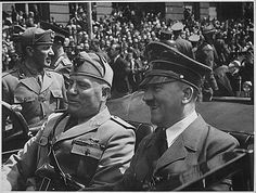 Dictator - Dictator on the left is Mussolini. He was a dictator in Italy. He formed an alliance with Hitler, which is a dictator in Germany. World History, World War Ii, Ww2 History, History Online, History Memes, Indira Ghandi, Axis Powers, Luftwaffe, Victorious