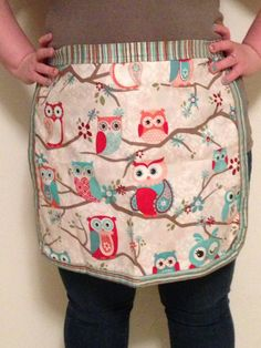 Adult Reversible Polka Dot and Owl Hostess by TrendyMommyBoutique, $30.00