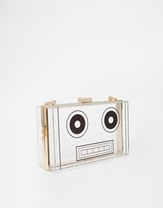Enlarge ASOS Robot Box Clutch Bag