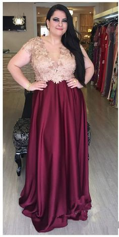 Prom Dress Beautiful, A-Line V-Neck Dark Red Elastic Satin Plus Size Prom Dress with Lace Appliques, Discover your dream prom dress. Our collection features affordable prom dresses, chiffon prom gowns, sexy formal gowns and more. Find your 2020 prom dress V Neck Prom Dresses, Plus Size Prom Dresses, Prom Dresses Online, Cheap Prom Dresses, Dresses For Teens, Modest Dresses, Homecoming Dresses, Bridesmaid Dresses, Dress Prom