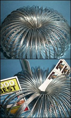Slinky picture holder.