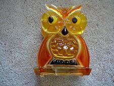 OWL - Vintage RETRO  LUCITE ACRYLIC PLASTIC - NAPKIN LETTER HOLDER RACK