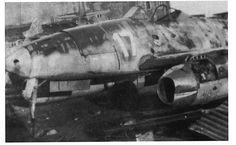 "ME 262 A-1a - W.Nr.110956 Possibly flown by Heinz Bär. Captured at Lechfeld on 29th April 1945, coded ""White 17"" and ""White S"" for Schulmaschine (a trainer or schooling plane). credit: ""Me262, The Production Log"" by Dan O'Connell [Classic, 2005]"