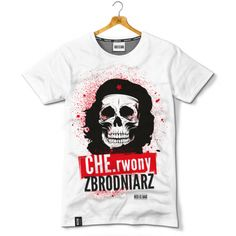 CHE.rwony zbrodniarz = red criminal; it is a word-play in Polish