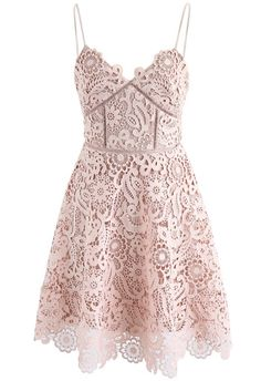 Flourish Like Flowers Crochet Cami Dress in Nude Pink - New Arrivals - Retro, Indie and Unique Fashion