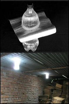 Light up your shed or workshop during the day without using electricity!