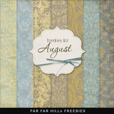 Far Far Hill: Freebies Old Style Papers Kit - August