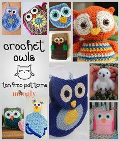 Free crochet owl patterns I'm torn. Pin here or on crochet board. How sweet is the owl lovey! Owl Crochet Patterns, Crochet Birds, Owl Patterns, Love Crochet, Crochet Crafts, Crochet Yarn, Crochet Animals, Moogly Crochet, Mandala Crochet