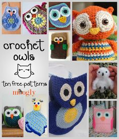 10 Free Owl Patterns - Roundup on Moogly!