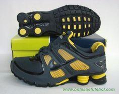 best loved 7c610 cccc6 Masculino TURBO-007 Nike Shox TURBO Preto Amarelo vendas de chuteiras