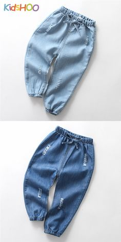 Girls Ripped Lightweight Rubber Waist Denim Jeans With Bowknot. Soft denim fabric, very suitable for all seasons. Boys Summer Outfits, Teen Girl Outfits, Cute Outfits For Kids, Baby Girl Jeans, Girls Jeans, Sewing Baby Clothes, Cute Baby Clothes, Ripped Denim, Denim Jeans