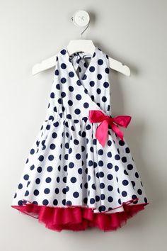 Polka Dot Mesh Trim Dress by Paulinie on @HauteLook