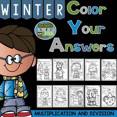 "#Winter Fun! Color Your Answers Printables - Multiplication and Division Basic Facts Color Your Answers Printables -- ""My students love color by codes and so did I! Thank you! Perfect for fact practice!"" #FernSmithsClassroomIdeas #TPT $Paid"