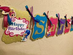 Shimmer and Shine 2 IN 1 Banner Shimmer and by LisasPartyShoppe
