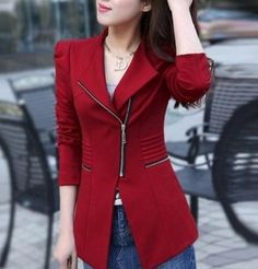 Women Fashion Clearance Sale. 60% OFF Women Red Blazer. Now only $15.99. Reg $39.95 Material : Polyester and Cotton. Fit: Slim Fitting Color : Red Size : Small S Length : 68 cm / 26.52 inch Chest : 90