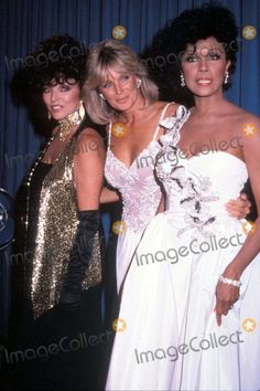 Joan Collins (TR), Linda Evans (FN) and Diahann Carroll (SD)