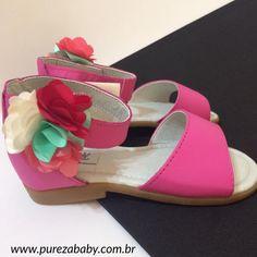#esquentablackfriday  Verão chegando e sandália no pé 😍 e com desconto 🙌🏻! ✏️Sandália de couro de R$ 104,90 por R$ 79,00  Venha conferir em: www.purezababy.com.br/sandalia-rosa-doce-aleka