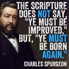 """""""Jesus answered and said unto him, Verily, verily, I say unto thee, Except a man be born again, he cannot see the kingdom of God....Marvel not that I said unto thee, Ye must be born again."""" (John 3:3,7 KJV)"""