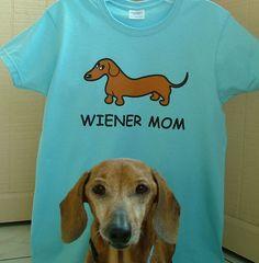 Red Dachshund Wiener Mom TShirt by whatsupdox on Etsy, $20.00