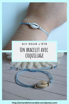 DIY easy and fast: a shell bracelet, trendy . You are in the right place about DIY Bracelet for hi Gold Bar Necklace, Lariat Necklace, Leather Necklace, Moon Necklace, Simple Necklace, Pendant Necklace, Diamond Jewelry, Silver Jewelry, Fine Jewelry