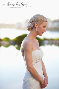 beautiful bride at Inn at Laurel Point - by Kim Kayln