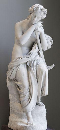 "Paul Lemoyne: ""Hope"" 1826 white marble exhibited at the 1827 Salon.  Louvre"