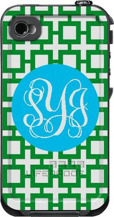 Squares Monogrammed LifeProof Cases | Squares Personalized LifeProof Case