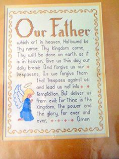 New Bucilla Cross Stitch Kit 49221 Our Father Bible Verse Religion Angel Praying Bucilla http://www.amazon.com/dp/B014I1U1Y6/ref=cm_sw_r_pi_dp_1.W6vb1VGEKNQ