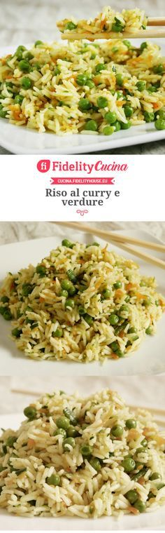 Curry rice and vegetables Veggie Recipes, Wine Recipes, Vegetarian Recipes, Healthy Recipes, China Food, Risotto Recipes, Oriental, Light Recipes, Indiana