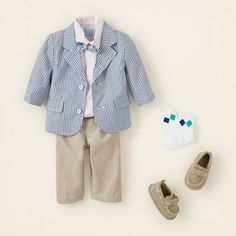 newborn - outfits - cute 'n classic boy - seersucker sweet | Children's Clothing | Kids Clothes | The Children's Place- Nathan's easter outfit!