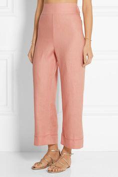 La Perla | Seawind cropped linen pants | NET-A-PORTER.COM