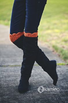 Just be happy!: Boot Cuffs - Free Pattern Yup, I will make these, then buy the boots and pants.  Love love love!