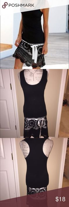 Victoria's Secret Crochet Bottom Razorback Dress Great condition aside from the snag in the Crochet- please see pic. Barely even noticeable when on. Price reflects Victoria's Secret Dresses