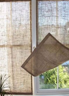 Занавески из мешковины