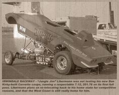 Jungle Jim Corvette Funny Car - only ran it two times and sold back to builder