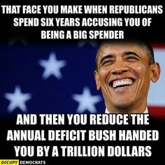 It takes a Democrat to clean up after the Fiscally Irresponsible Republicans (Again!!)