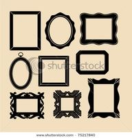 photo display inspiration for different shaped frames