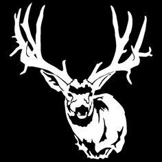mule deer silhouette - Google Search